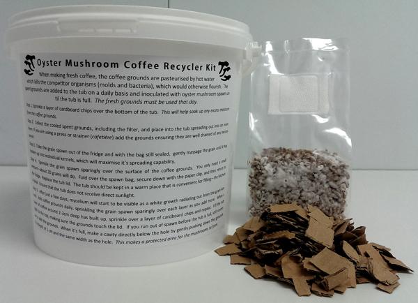 Gourmet Mushroom Coffee Grounds Kit