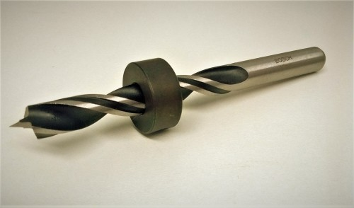 Sawdust Spawn Drill Bit with Stop Collar